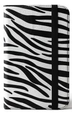 Kindle 3 Keyboard Ultra Slim PU Leather Zebra Print